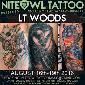 GUEST SPOT @ NITE OWL TATTOO, NORTHAMPTON, MA