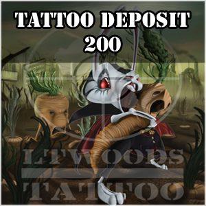 Tattoo Deposit 200